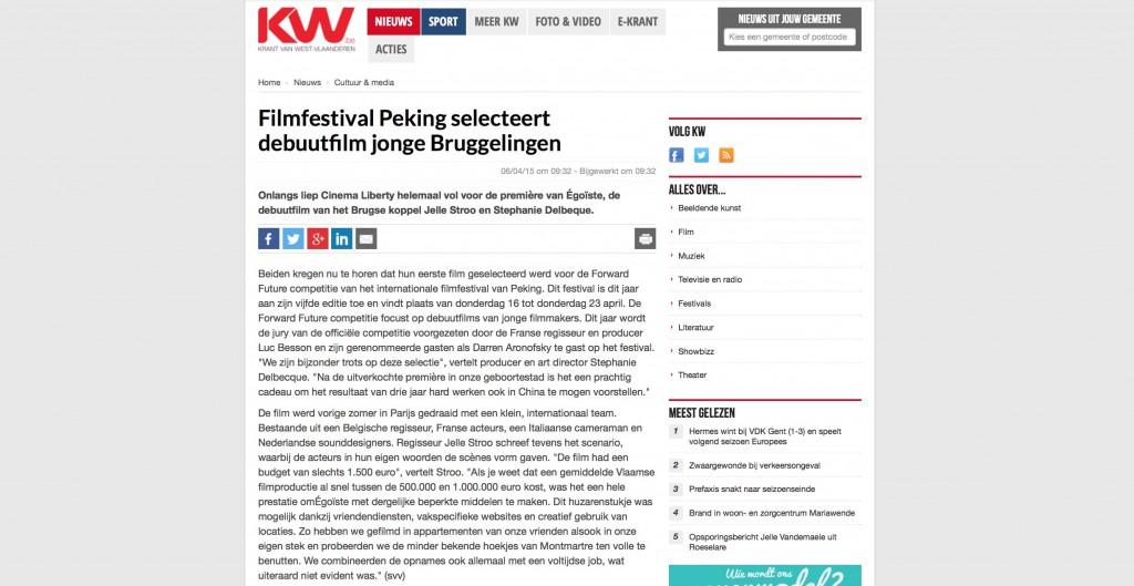Brugsch Handelsblad, 6 April 2015