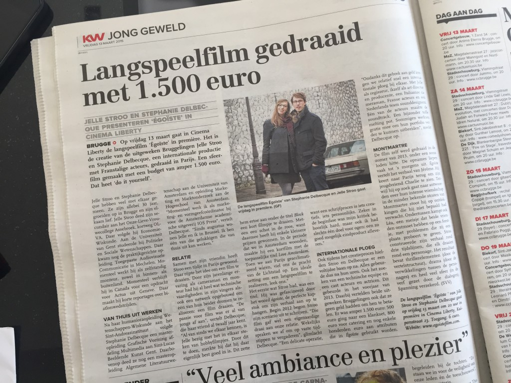 Brugs Handelsblad, 13 March 2015