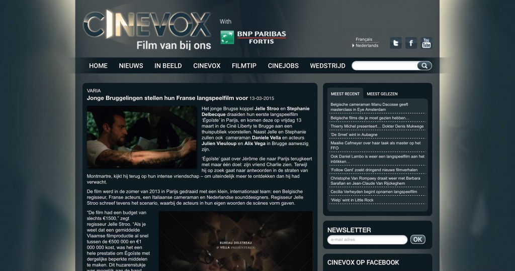 Cinevox, 13 March 2015